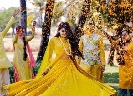 Wedding haldi function