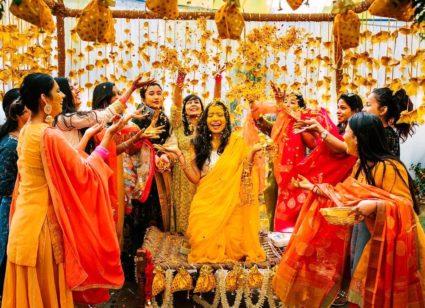wedding haldi arrangement